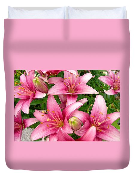 Blush Of The Blossoms Duvet Cover