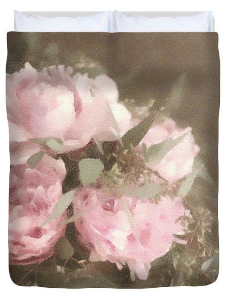 Blush Pink Peonies Duvet Cover