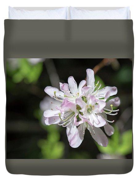 Blushing Azaleas Duvet Cover