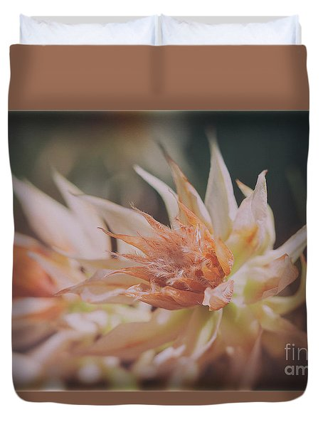 Duvet Cover featuring the photograph Blushing Bride by Linda Lees