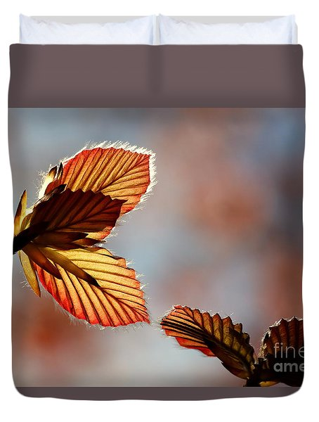 Duvet Cover featuring the photograph Blushing by Kenny Glotfelty
