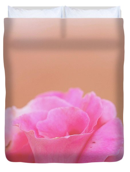 Duvet Cover featuring the photograph Blushing Rose by Cindy Garber Iverson