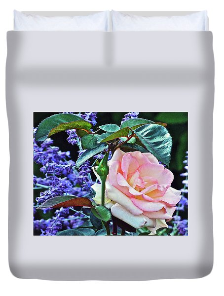 Duvet Cover featuring the photograph Blushing Rose by Janis Nussbaum Senungetuk
