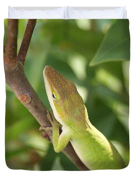 Blusing Lizard Duvet Cover