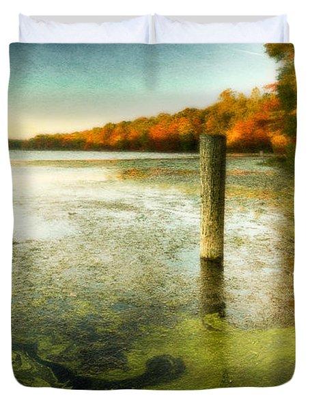 Blydenberg Park In The Fall Duvet Cover