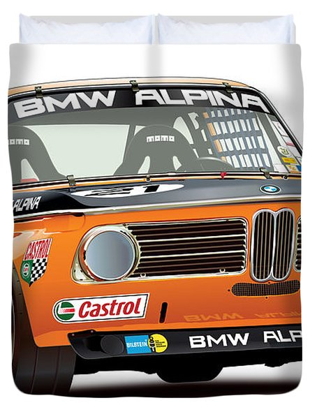 Bmw 2002 Alpina Illustration Duvet Cover