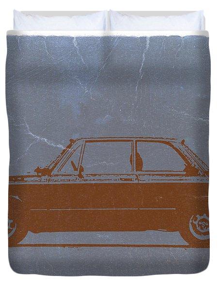 Bmw 2002 Orange Duvet Cover