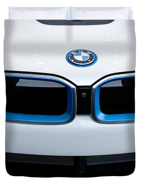 Duvet Cover featuring the photograph Bmw E Drive I8 by Aaron Berg