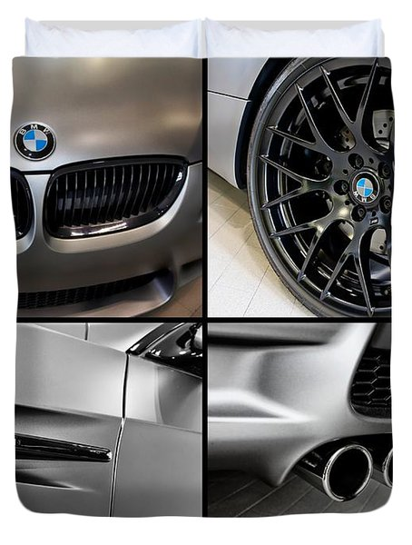 Duvet Cover featuring the photograph Bmw M3 Collage by Aaron Berg