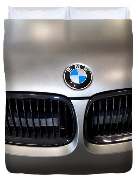 Duvet Cover featuring the photograph Bmw M3 Hood by Aaron Berg