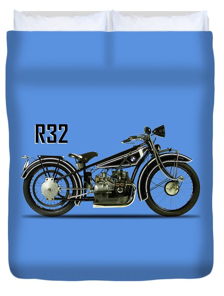 The R32 Motorcycle Duvet Cover