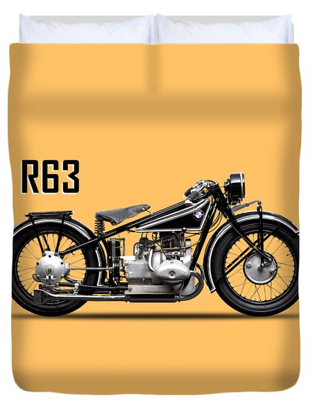 The R63 Motorcycle Duvet Cover
