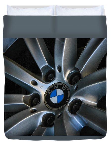 Duvet Cover featuring the photograph Bmw Wheel by Robert Hebert