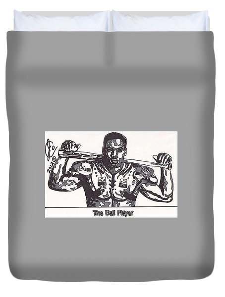 Bo Jackson The Ball Player Duvet Cover by Jeremiah Colley