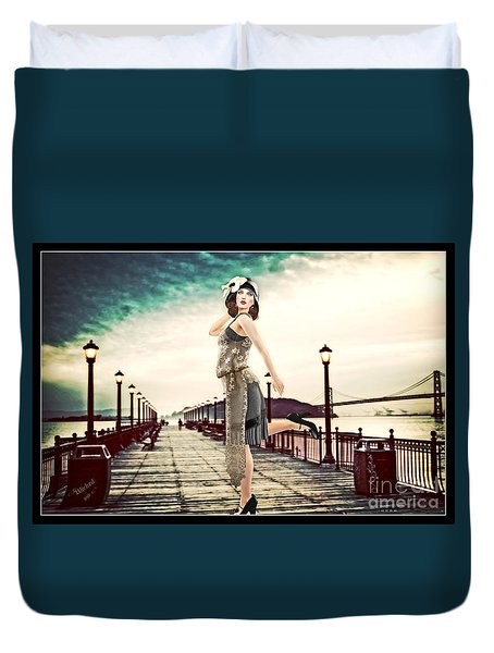 Boardwalk 1920 Duvet Cover
