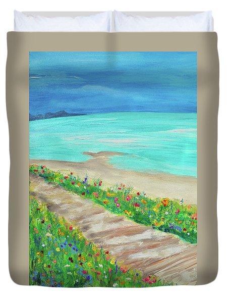 Boardwalk In Carmel Duvet Cover