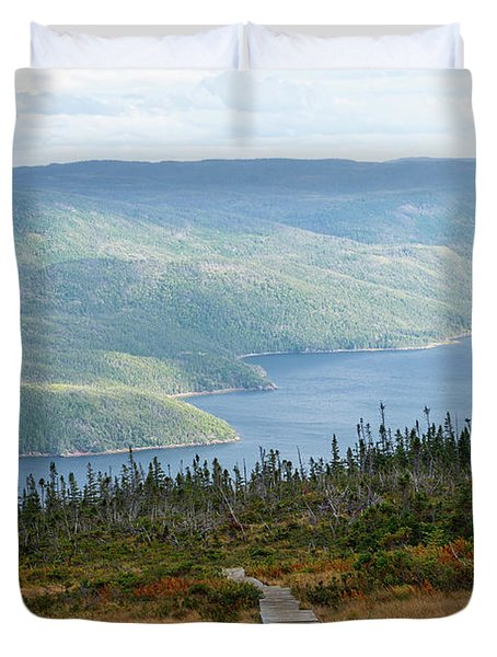 Boardwalk In Gros Morne Duvet Cover