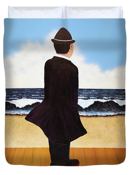 Boardwalk Man Duvet Cover