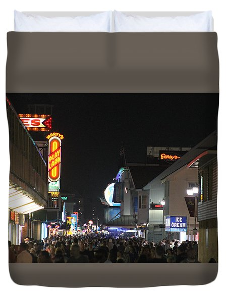 Boardwalk Night Lights Duvet Cover