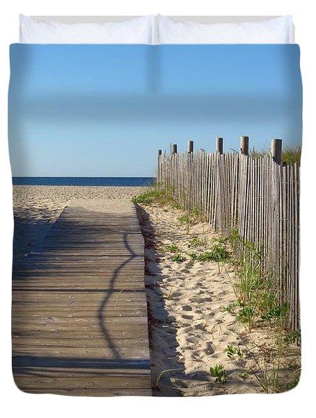 Boardwalk On The Cape Duvet Cover