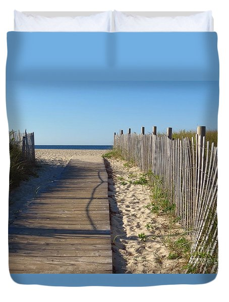 Boardwalk On The Cape Duvet Cover