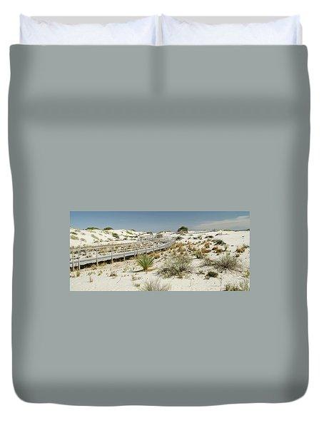 Boardwalk On The Sands Duvet Cover