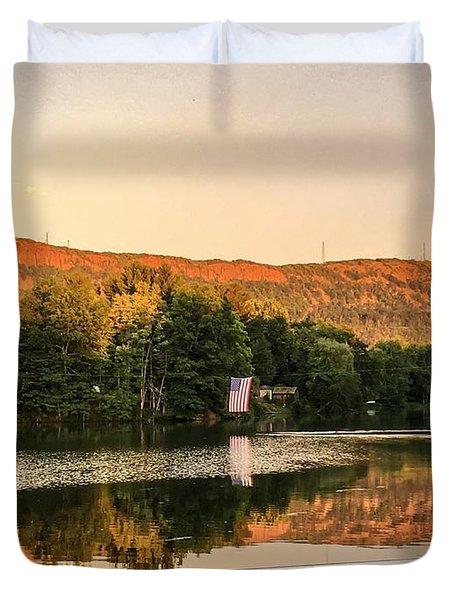 Boardwalk Sunset Duvet Cover