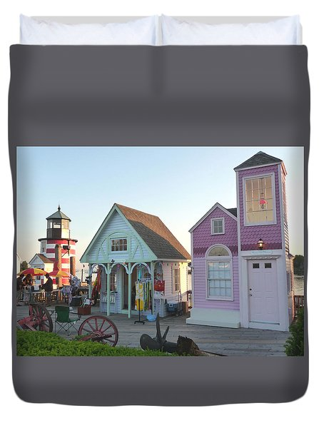 Boardwalk Vendors Duvet Cover