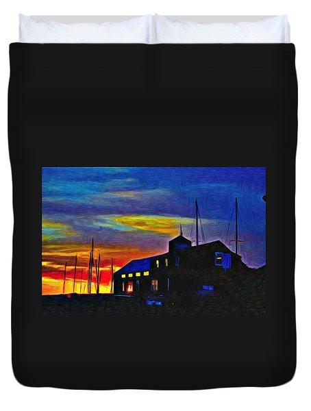Boat Builder's Dawn Duvet Cover