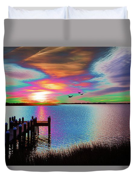 Boat Dock 2 Duvet Cover