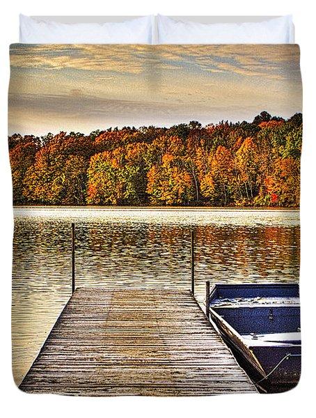 Boat Dock Le-aqua-na II Duvet Cover