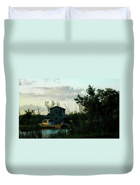 Boat House Duvet Cover by Cynthia Powell