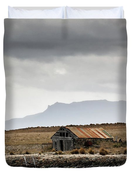 Duvet Cover featuring the photograph Boat House by Nicholas Blackwell
