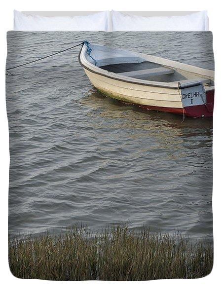 Boat In Ria Formosa - Faro Duvet Cover