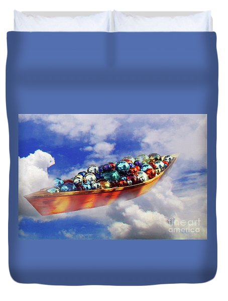 Boat In The Clouds Duvet Cover
