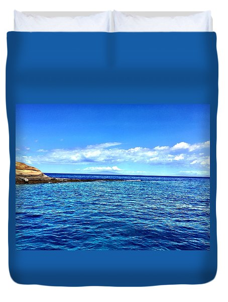 Duvet Cover featuring the photograph Boat Life 1 by Michael Albright