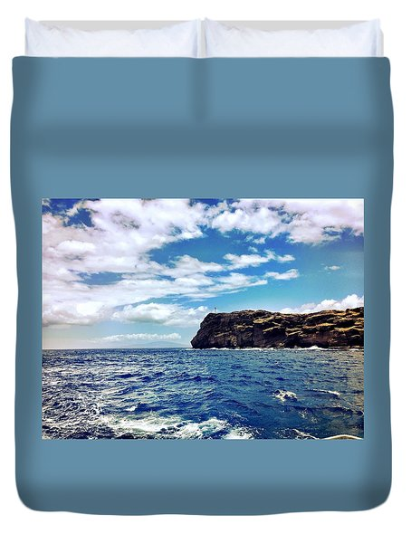 Duvet Cover featuring the photograph Boat Life by Michael Albright