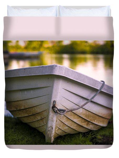 Boat On Land Duvet Cover