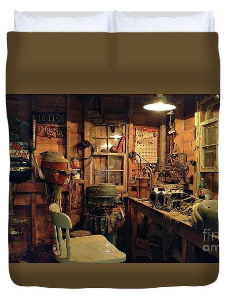 Boat Repair Shop Duvet Cover