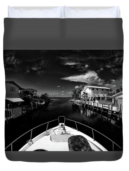 Boat Ride Duvet Cover by Kevin Cable
