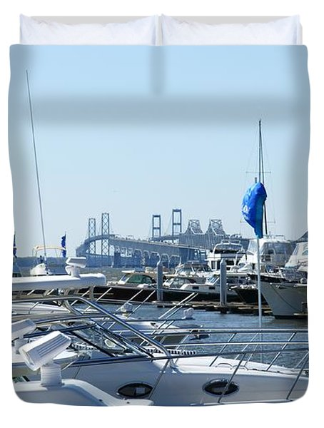 Boat Show On The Bay Duvet Cover