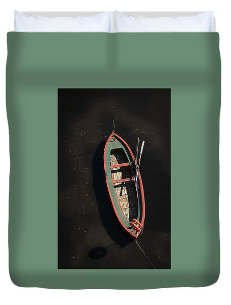 Boat Duvet Cover by Silvia Bruno