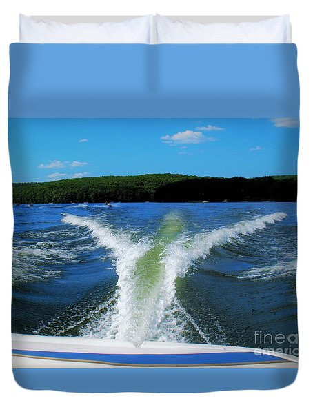 Boat Wake Duvet Cover