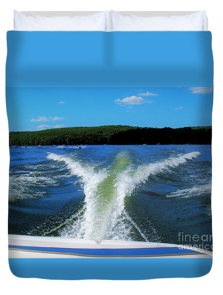 Boat Wake Duvet Cover
