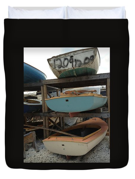 Boat Yard  Duvet Cover