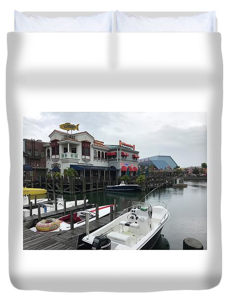 Boat Yard Duvet Cover
