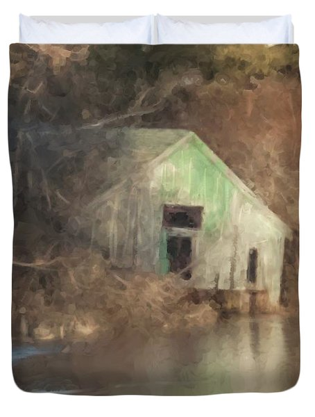Boathouse On Solstice Duvet Cover