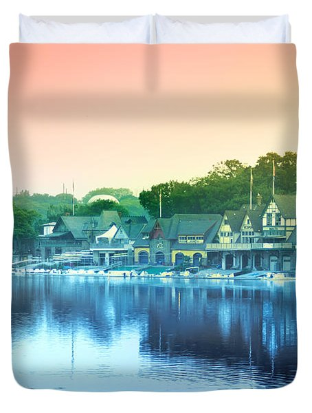 Boathouse Row Duvet Cover by Bill Cannon