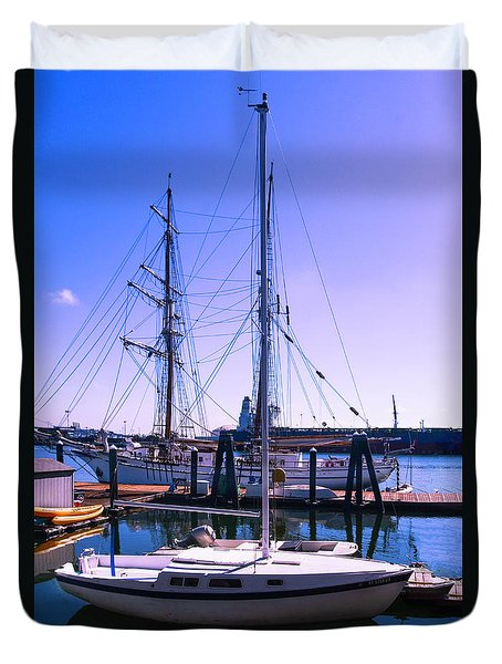 Boats And Ships Duvet Cover