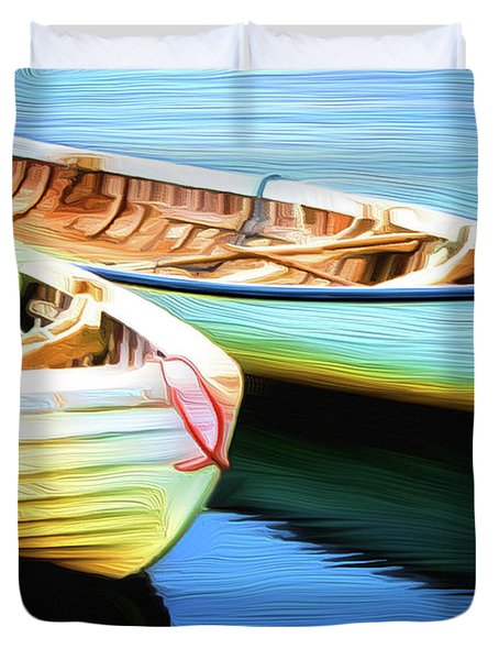 Boats Duvet Cover by Andre Faubert